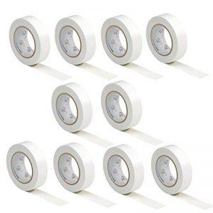 10 rouleaux VDE Ruban Isolant Électrique Bande Isolatrice PVC 15mm x 10 DIN EN 60454-3-1 couleur: blanche de la marque AUPROTEC image 0 produit