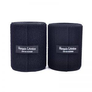 10CM de large 2 mètres de long Coudre sur Crochet et Bandes de Boucle avec non-adhésif Retour Nylon Tissu Fermeture, Noir,Black de la marque Hongxin lattice image 0 produit