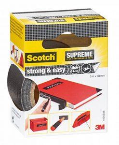 3M 4105B38 Scotch Ruban Toilé de Réparation Fort et Facile 3m x 38mm 1 Rouleau Noir de la marque Scotch image 0 produit