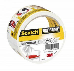 3M Scotch Suprême Ruban Toilé de Réparation Ultra Résistant 10 m x 48 mm 1 Rouleau Blanc de la marque Scotch image 0 produit