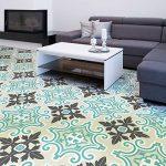 4 Sticker adhésif revêtement sol carrelages azulejos anti-dérapant - 20 x 20 cm - 4 pièce de la marque Ambiance-Live image 0 produit