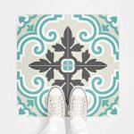 4 Sticker adhésif revêtement sol carrelages azulejos anti-dérapant - 20 x 20 cm - 4 pièce de la marque Ambiance-Live image 3 produit