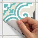 4 Sticker adhésif revêtement sol carrelages azulejos anti-dérapant - 20 x 20 cm - 4 pièce de la marque Ambiance-Live image 4 produit