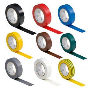 9 rouleaux VDE Ruban Isolant Électrique Bande Isolatrice PVC 15mm x 10 DIN EN 60454-3-1 set / assortiment 9 couleurs de la marque AUPROTEC image 0 produit