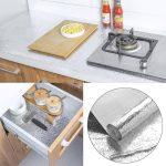 Auto-adhésif de Papier d'aluminium, Amovible Autocollant Papier Peint, Anti-moisissure Résistant à l'eau et à la Chaleur pour Mur de Cuisine Meuble Comptoir, 0.61m x 1m Argent de la marque Samtlan image 2 produit