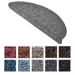 Beautissu 15 tapis de marche d'escalier ProStair 56x20x4cm couture robuste - Antidérapant pose rapide facile Gris de la marque Beautissu image 0 produit