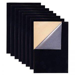 BENECREAT 20PCS Velours (Noir) Feuille Tissu Post-it Retour Adhésif Feutre A4 (21x30cm), Auto-adhésif, Durable et résistant à l'eau, à usages Multiples, idéal pour Faire de l'art et de l'Artisanat de la marque BENECREAT image 0 produit