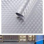 BESTONZON Autocollant mural autocollant, papier aluminium résistant à la chaleur, résistant à la graisse, résistant aux huiles et aux huiles, adhésif mural pour cuisine (40cm * 3m) de la marque BESTONZON image 2 produit