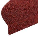 Casa Pura Tapis de marche d'escalier de Leipzig, Ensemble 15pièces (23x 65cm)–Plusieurs couleurs |, durable, antidérapant, protection, rouge de la marque casa pura image 2 produit