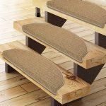 casa pura Tapis escalier Beige polypropylène résistant et Durable | 3 Couleurs au Choix | Berlin, Lot DE 15 pièces - 25x65cm de la marque casa pura image 1 produit