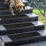 ETM® antidérapant Tapis de marches d'escaliers en caoutchouc–Épaisseur 0.8cm–extérieur 100% résistant aux intempéries–Superbe Grip–Lot de 5–Santiago, noir de la marque etm image 2 produit