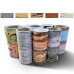 fasloyu Papier peint autocollant, facile à appliquer, pour salle de bain/cuisine, pour carrelage de sol, 12couleurs au choix (20x 50cm, 20cmx 500cm), PVC, a, 20 cm * 500 cm de la marque fasloyu image 2 produit
