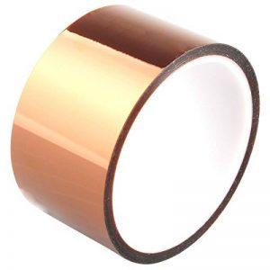 Haljia 50mm * 30m Polyamide résistant à la chaleur haute température ruban adhésif Doré pour imprimante 3d/plate-forme tâche/à souder électrique/isolant des circuits imprimés résistant aux températures jusqu'à 280'C de la marque HALJIA&reg image 0 produit
