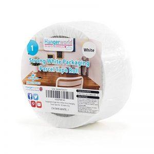 Hangerworld Ruban Scotch 66m Adhésif d'Emballages Blanc Haute Adhérence pour Carton et Caisse de la marque Hangerworld image 0 produit