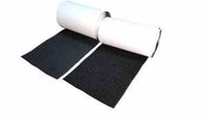 Hongxin LAttice Crochet et Boucle de Fixation Bande de adhésif autocollant, 10cm x 1m , 1 meter de long, (1m crochet & 1m boucle), 100 mm. de large, Noir,Black de la marque Hongxin LAttice image 0 produit