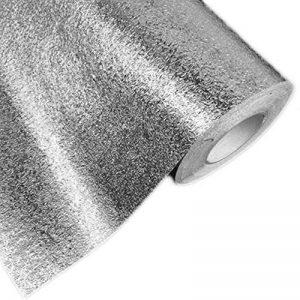 Hottong de cuisine résistant à l'huile imperméable à l'eau Autocollant en feuille d'aluminium de cuisine cuisinière Cabinet tiroir Peau d'orange Grain Autocollant Papier peint 0.4 * 5M Silver de la marque Hottong image 0 produit
