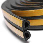 Joint d'étanchéité auto-adhésif Dealglad® en caoutchouc mousse EPDM pour portes et fenêtres - Isolant acoustique - Empêche les portes et fenêtres de se refermer bruyamment, noir, D type 10m de la marque Dealglad image 2 produit
