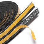 Joint d'étanchéité auto-adhésif Dealglad® en caoutchouc mousse EPDM pour portes et fenêtres - Isolant acoustique - Empêche les portes et fenêtres de se refermer bruyamment, noir, D type 10m de la marque Dealglad image 3 produit