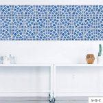 JY ART Carrelage Autocollant - Sticker adhésiv pour Mural de Salle de Bain et Cuisine | Tuiles décalcomanies - Stickers carrelage Carrelage Adhesif Moderne Style méditerranéen Bleu, 20 * 100cm*4pcs de la marque JY ART image 0 produit