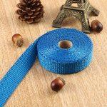 Kongqiabona Incombustible Collecteur Turbo Isolation Échappement Ruban Wrap Tape Thermique Zip Inoxydable Voitures Motos (Bleu) de la marque Kongqiabona image 3 produit