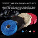 Kongqiabona Incombustible Collecteur Turbo Isolation Échappement Ruban Wrap Tape Thermique Zip Inoxydable Voitures Motos (Bleu) de la marque Kongqiabona image 4 produit