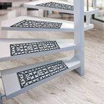 Lot de 5 marchettes casa pura® pour escaliers extérieurs | résistantes aux intempéries : caoutchouc robuste | design classe | Colombo - 25x75cm de la marque casa pura image 4 produit