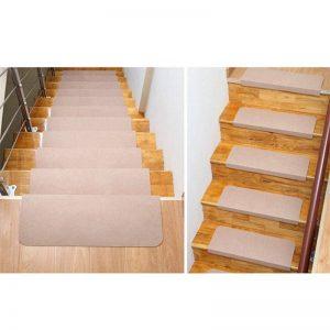 Lot de 5 tapis Fastar pour marches d'escalier - Antidérapants - Pour l'extérieur ou l'intérieur (70x 20,5cm) , beige, Beige de la marque Fastar image 0 produit