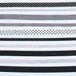 Luxbon Ruban en Satin Organza Gros-Grain Imprimé Paillettes Blanches pour Artisanat DIY Cadeau Lot de 10pcs 2 Mètres (environ) Noir/Blanc/Gris 20 Mètres(10X2m) de la marque Luxbon image 2 produit