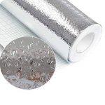 Majome Autocollant Auto-adhésif Autocollant de Mur de cuisinière de Papier Peint de Preuve de Papier d'aluminium imperméable d'huile de la marque Majome image 4 produit