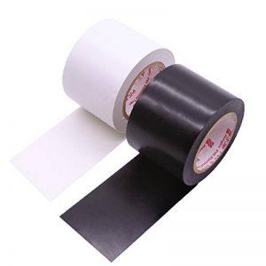 Maveek 2rouleaux électriques ruban adhésif 50mm * 15m en silicone étanche isolant de réparation élevés, Noir et Blanc de la marque Maveek image 0 produit