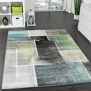 Paco Home Tapis Design Moderne Trendy Moucheté Tape l'oeil Turquoise Vert Gris Anthracite, Dimension:120x170 cm de la marque Paco Home image 0 produit