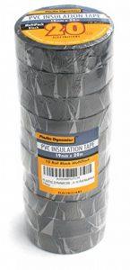 Plastic Dynamics® PVC Rouleau de ruban isolant Noir 10Multipack Brand: Plastic Dynamics® de la marque Plastic Dynamics® image 0 produit