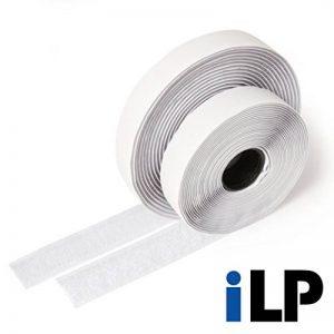 PMI Ruban adhésif en Velcro, blanc–longueur 5m, largeur env. 20mm–Fixation sûr, extra forte, pour travaux de maison, bricolage, travaux manuels, mâle et femelle de la marque iLP image 0 produit