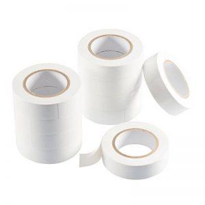 Poppstar - 10x 10m Bande isolante (ruban d'étanchéité PVC - ruban adhésif), pour l'isolation - réparation de conducteurs électriques, (18mm de large), blanc de la marque Poppstar image 0 produit
