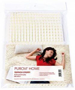 Purovi® Sous-tapis antidérapant pour tapis ou paillassons | Dimensions 200 x 80 cm | Thibaude | Peut être coupé | Tapis antidérapant de la marque Purovi image 0 produit