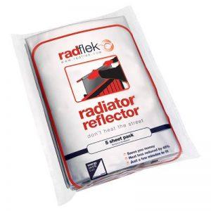 Radflek Pack de 5 films réflecteurs de chaleur + 4 bandes adhésives réfléchissantes Radstik pour au moins 10 radiateurs de la marque Radflek image 0 produit