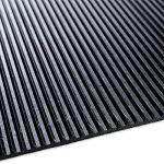 Revêtement de sol etm tapis caoutchouc | antidérapant, résistant, isolant | intérieur ou extérieur | nombreux modèles et tailles | tapis noir strié, 180x150cm de la marque etm image 2 produit