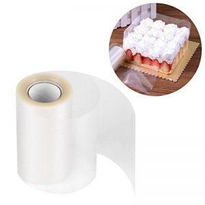 Rouleau Ruban en PP Film à Chemiser Transparent Feuilles de Papier pour Cercle Pâtisserie 10M x 8 /10CM(8cm*10m) de la marque Yosoo image 0 produit