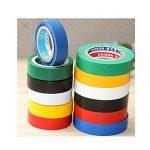 Ruban adhésif isolant électrique Haute température la Résistance PVC Tape Ruban isolant Rouleau Mixte Couleur Lot de 6 de la marque MUXItrade image 3 produit