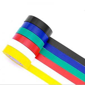 Ruban adhésif isolant électrique Haute température la Résistance PVC Tape Ruban isolant Rouleau Mixte Couleur Lot de 6 de la marque PHIMIITA image 0 produit