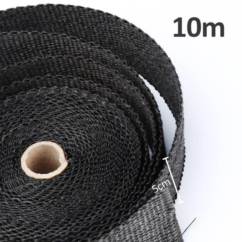 10 Colliers en Inox Bande Isolant Thermique C/éramique pour Tuyeau Manifold Noir