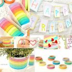 Ruban Washi, Ailiebhaus Adhésif masquant Autocollant coloré rainbow Tapes DIY Rubans Étiquettes 10 rouleaux de la marque Ailiebhaus image 1 produit