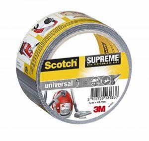 Scotch 19500185756 Suprême Ruban Toilé de Réparation Ultra Résistant 10 m x 48 mm 1 Rouleau Argent de la marque Scotch image 0 produit