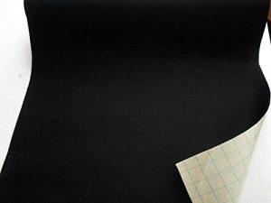 Stoffbook Feutre de Laine adhésive - Largeur 50cm- Tissu Feutrine autocollante autoadhésif Loisirs Créatifs Noir, B734 de la marque Stoffbook image 0 produit