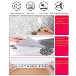 UMIWE Cuisine Stickers Papier Peint Autocollants Autocollants Aluminium Autocollants Aluminium Autocollants Muraux Preuve Imperméables Pour Armoires De Cuisine Tiroirs & Étagères-61x500cm de la marque UMIWE image 3 produit