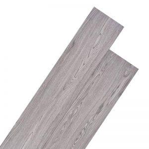 vidaXL Planche de Plancher PVC Gris Foncé Revêtement de Plancher Dalle de Sol de la marque vidaXL image 0 produit