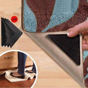 WSS–8PCs Tapis Grippers Tapis en caoutchouc antidérapant Pad Tapis avec ruban adhésif double face de la marque Warehouseshop image 0 produit